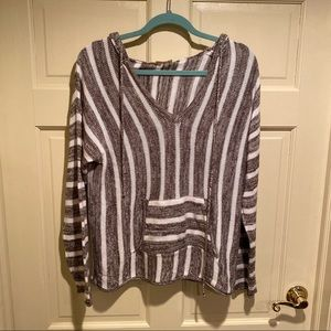 Love Stitch hooded sweater